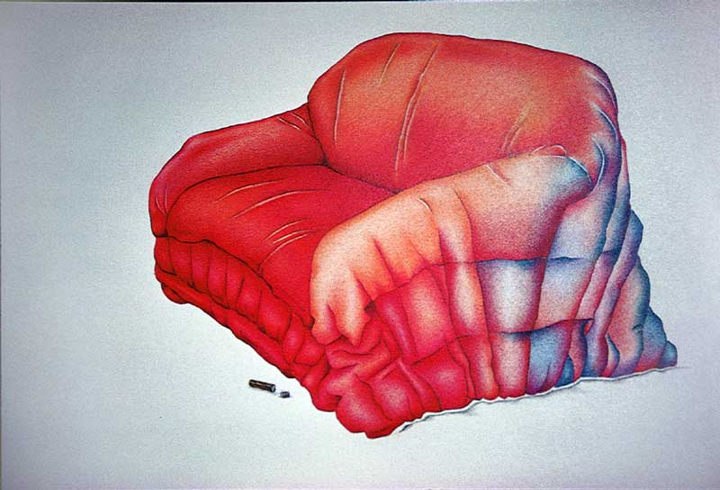 Illustration rote Couch